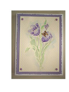 Wet embossing / water color card ~ by D. Perenick