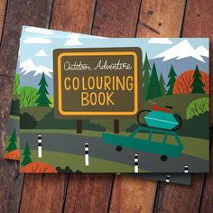 Rocky Mountain Adventure colouring book - A book that tells a story of a road trip to the mountains to go camping, hiking and biking.  #camping #biking #hiking #roadtrip #mountain #mountainadventure