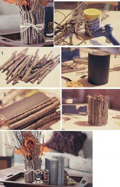 Obsequios que la economía no impedirá que regales ¡A reciclar! diy wood crafts for fall - Diy Fall Crafts Vintage Diy, Vintage Ideas, Garrafa Diy, Diy Casa, Decoration Bedroom, Diy Home Decor Bedroom, Wall Decor, Decor Diy, Bedroom Storage
