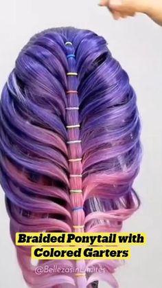 Curl Hair With Straightener, Braided Ponytail, Hair Cutting Techniques, Hairdo For Long Hair, Hair Upstyles, Bridal Hair Updo, Star Hair, Hair Shows, Tips Belleza