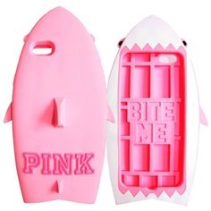 Victoria's Secret PINK 3D PINK Shark Silicone Case for iPhone
