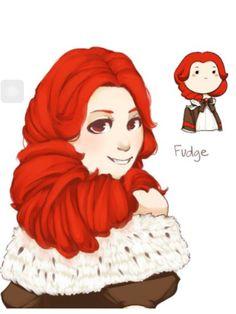 Fudge closeup! Red hair? Okay..