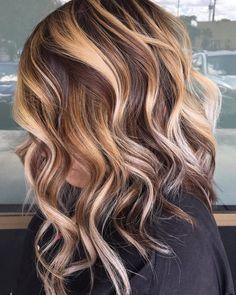 Unicorn Hair Color, Ombre Hair Color, Hair Color Balayage, Blonde Balayage, Honey Balayage, Hair Colors, Blonde Hair With Highlights, Brown Blonde Hair, Blonde Honey