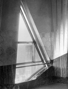 """The truly lovely and lost Chrysler Building Observatory, Cloud Club. (via ScoutingNY, source FlapperGirlCreations, photos from """"Chrysler Building: Creating a New York Icon Day by Day"""" by D Stravitz.)"""