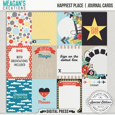 Happiest Place | Journal Cards
