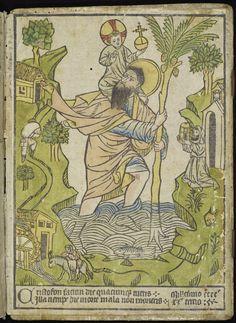 St. Cristopher Woodcut 1423