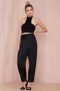 Nasty Gal Collection Rapture High-Waisted Trouser