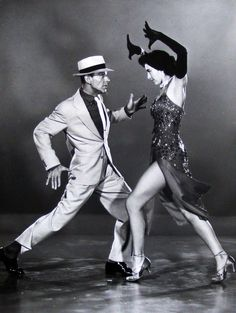 Fred Astaire and Cyd Charisse in 'The Band Wagon', 1953.