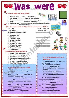 Was Were worksheet Learn English Grammar, English Words, English Lessons, English Vocabulary, Teaching English, Grammar Exercises, English Exercises, Grammar Book, Teaching Grammar