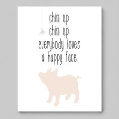 Chin Up Chin Up Everybody Loves a Happy Face 8x10 by Fishtitch