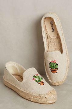 Soludos Embroidered Cactus Espadrilles