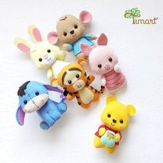 Winnie the pooh and friends - Salvabrani Felt Crafts Diy, Cork Crafts, Felt Diy, Sewing Crafts, Sewing Projects, Crafts For Kids, Cardboard Crafts, Easy Crafts, Crafts Cheap
