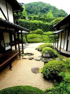 Okayama - Tuin van de Raikyū-ji  Temple