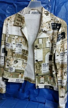 Ladies cotton light wieght multi colored jacket Walking Art made in Australia in Suits & Blazers | eBay