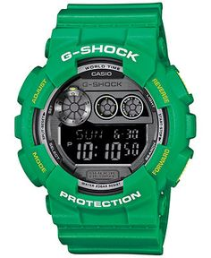 G-Shock Men's Digital XL Green Resin Strap Watch 55x51mm GD120TS-3 - Watches - Jewelry & Watches - Macy's