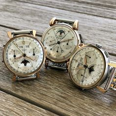 And then there were three... #genesis #record #watches #watch #cool #rolex #patek #rolexvintagewatch #splitsecond #beauty #beautiful #rare