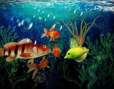 Joy To The Fishes via @terryfleckney #fantasyart #underwater #threedognight
