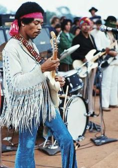 Jimi's legendary performance at 1969′s Woodstock is usually looked at as a huge moment in music history. Curiously enough, Jimi was playing alongside mostly artists with whom he'd never performed. His band, The Jimi Hendrix Experience, had already broken up!