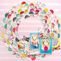 Wild Smile by @paigeevans using @pinkpaislee Fancy Free, Take Me Away, and Oh My Heart #scrapbooking #processvideo