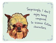 My puppies feel he same way!!  ewok=brussels griffons