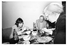 Mick Jagger — with William S. Burroughs and Andy Warhol