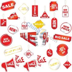 Promotional tag vector