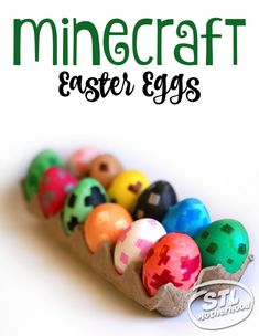 Awesome idea! Dye some real life Minecraft Easter Eggs. Here's a tutorial to guide you, including a chart of Minecraft spawn eggs to use for color patterns.