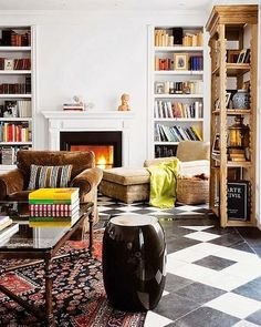 Modern meets Traditional Reading Room