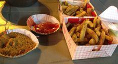 Chat Masala fries at Liberty Market. Street food in Lahore, Pakistan