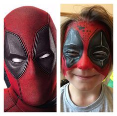 Deadpool by Hannah Ainsworth of www.freshandfunkyfaces.co.uk