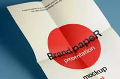 A folded psd A4 paper mockup design to help you display your A4 poster design and other print projects....