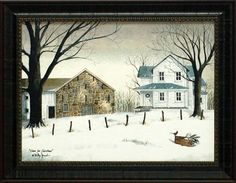Home For Christmas by Billy Jacobs 15x19 framed artwork country print by From The Heart, http://www.amazon.com/dp/B00513HO3W/ref=cm_sw_r_pi_dp_sy15rb0PZEC4R