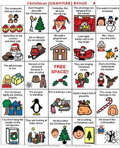 Christmas grammar bingo. She has more Christmas themes for free as well