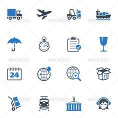 Logistics Icons - Blue Series #design Download: http://graphicriver.net/item/logistics-icons-blue-series/3623525?ref=ksioks