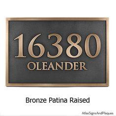 Rockdale Station Address Plaque 18x12 by AtlasSignsAndPlaques, $329.30