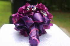 www.mrseventplanner.com Purple Brooch Bouquet, Napkin Rings, Home Decor, Decoration Home, Interior Design, Home Interior Design, Home Improvement