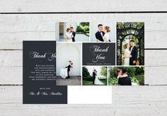 Rustic Wedding Thank You Postcard, Printable Photo Thank You, Wedding Thank You…