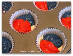 4th of July Recipes: Red, White and Blue Cupcakes | Recipe Girl