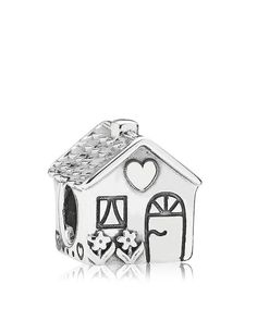 Pandora Charm - Sterling Silver Home Sweet Home, Moments Collection
