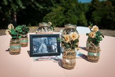 DIY wedding decorations   Kim & Brandon's Offbeat, DIY Maryland Wedding at Woodlawn Manor   Images: Voula Trip Photography