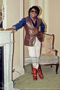 Soul singer James Brown poses for a portrait in circa 1974.