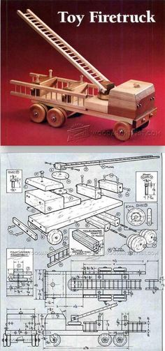 Wooden Fire Truck Plans - Children's Wooden Toy Plans and Projects | WoodArchivist.com