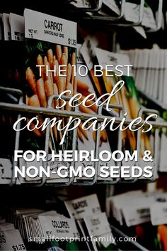 Each of these ten socially responsible seed companies have taken the Safe Seed Pledge and are not affiliated with Monsanto or GMOs in any way. Click to find safe places to buy your garden seeds!