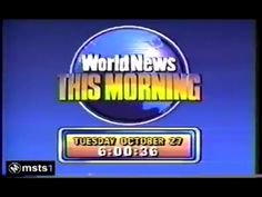I remember ABC World News This Morning from the early Classic Image, Abc News, The Good Old Days, Good Things, 1980s, Tv, Television Set, Television