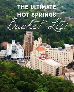 Best Hot Springs Around the World that are Earth's Greatest Gift to Mankind When you're planning a vacation to the top destination in Arkansas - you'll want to be prepared. Here are 51 of the Can't Miss adventures and activities that await in Hot Springs. Vacation Destinations, Dream Vacations, Vacation Spots, Vacation Ideas, European Vacation, Hot Springs Arkansas, Weekend Trips, Weekend Getaways, Arkansas Vacations