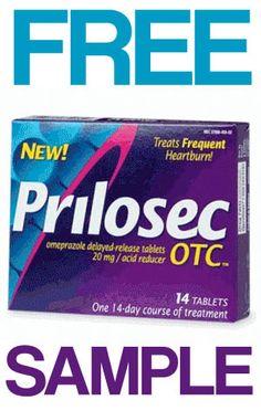 FREE Prilosec OTC Heartburn Relief Sample