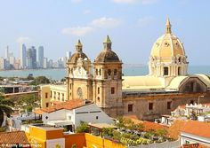 Cartagena, pictured, is one of Colombia¿s star turns - a walled old town that feels Europe...