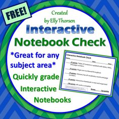 Quickly grade interactive notebooks with this check sheet. Great for any subject area or grade level.