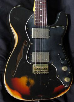 New Nash T 72TL Black Over Sunburst Electric Guitar T72TL | eBay
