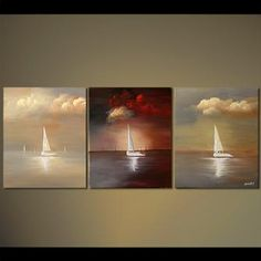 Seascape painting - Moving West